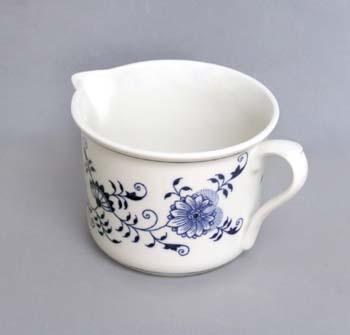 Cibulák hrnek Vařák velký s hubičkou 0,90 l originální cibulákový porcelán Dubí, cibulový vzor, 1.jakost