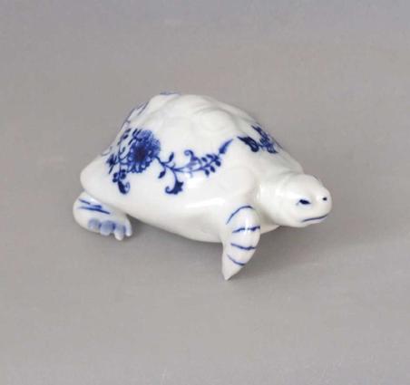 Cibulák Želva 342 Dux 9 cm originální cibulákový porcelán Dubí, cibulový vzor 1. jakost