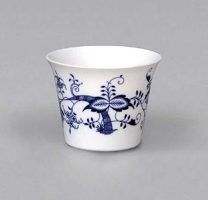Cibulák Průsvitka hladká M bez glazury 9,5 cm originální cibulákový porcelán Dubí, cibulový vzor 1. jakost