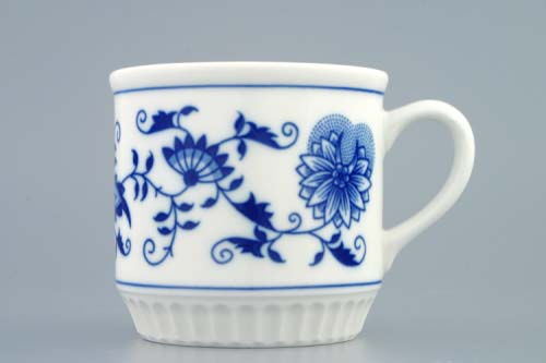 Cibulák Hrnek Leo bez nápisu 0,30 l originální cibulákový porcelán Dubí, cibulový vzor 1. jakost