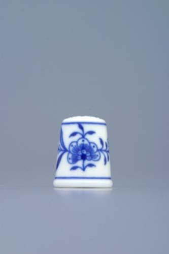 Cibulák Náprstek 2,7 cm originální cibulákový porcelán Dubí, cibulový vzor 1. jakost
