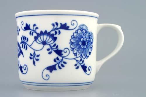 Cibulový porcelán Hrnek Vařák 0,65 l, originální cibulák Dubí, cibulový vzor 1. jakost