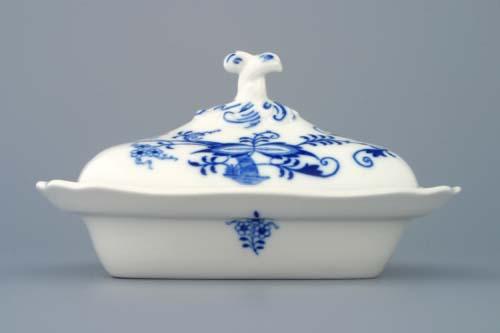 Cibulák Mísa ragout s víkem 0,25 l originální cibulákový porcelán Dubí, cibulový vzor 1. jakost