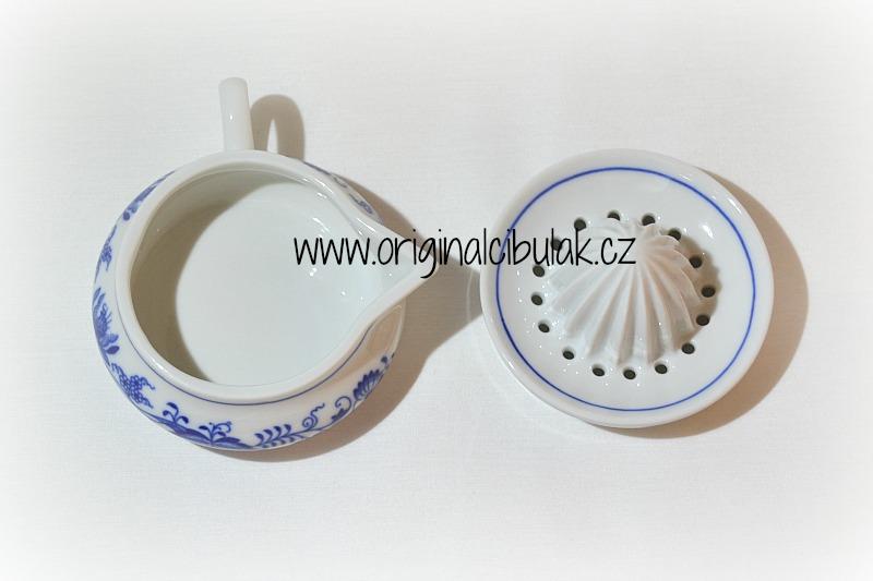 Cibulák Lis na citrón 10 cm originální cibulákový porcelán Dubí, cibulový vzor 1. jakost