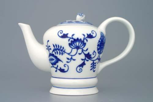 Cibulák Konvice čajová FM s víčkem 0,35 l originální cibulákový porcelán Dubí, cibulový vzor, 1.jakost