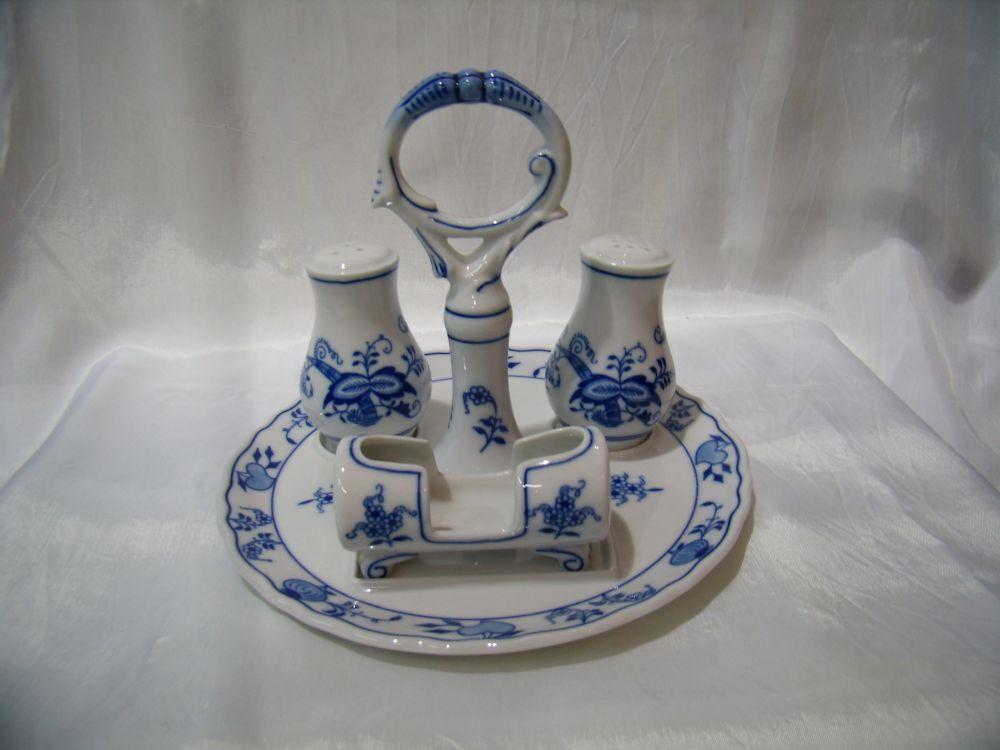 Cibulák Souprava stolní 21 cm originální cibulákový porcelán Dubí, cibulový vzor, 1.jakost