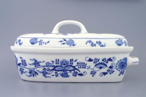 Cibulák Pekáč velký 2,4 l originální cibulákový porcelán Dubí, cibulový vzor, 1.jakost