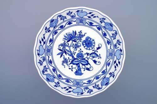 Cibulák Mísa kompotová oboustranná na dortové noze 24 cm originální cibulákový porcelán Dubí, cibulový vzor, 1.jakost