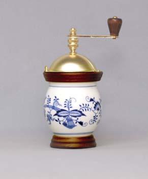Cibulák Mlýnek na kávu Baňák 20 cm originální cibulákový porcelán Dubí, cibulový vzor 1. jakost