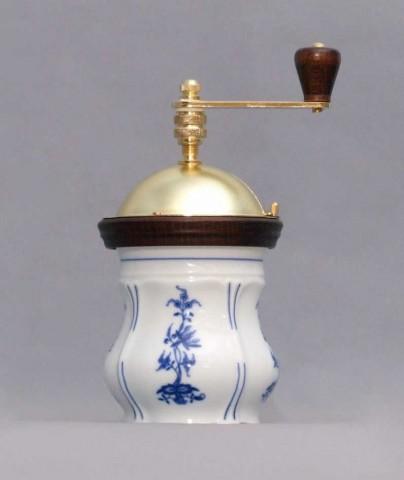 Cibulák Mlýnek na kávu Aneta 19 cm originální cibulákový porcelán Dubí, cibulový vzor 1. jakost