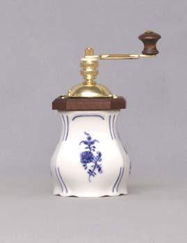 Cibulák mlýnek na koření Aneta 15,5 cm originální cibulákový porcelán Dubí, cibulový vzor 1. jakost