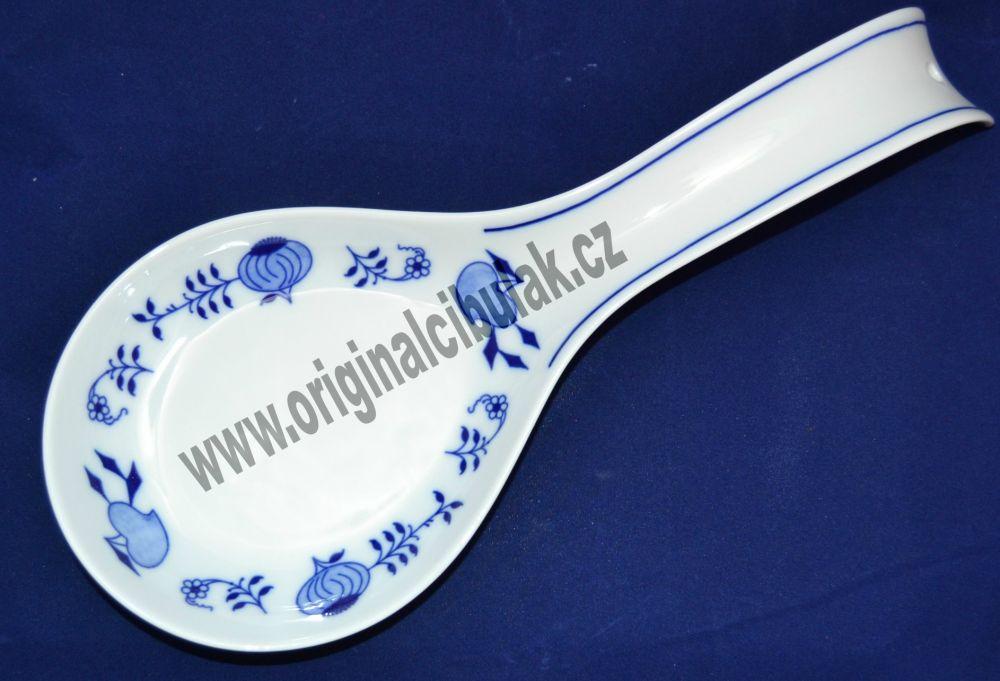 Cibulák odkládací lopatka 30 cm originální cibulákový porcelán Dubí, cibulový vzor, 1.jakost