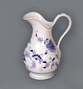 Cibulák Hygienická souprava džbán 5 l originální cibulákový porcelán Dubí, cibulový vzor 1. jakost