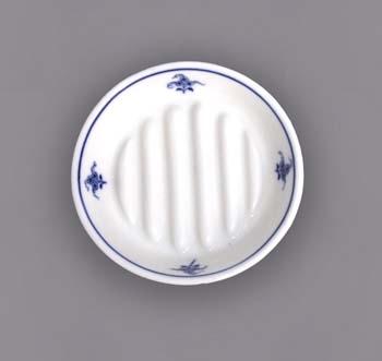Cibulák Hygienická souprava mýdelníček 12,5 cm originální cibulákový porcelán Dubí, cibulový vzor 1. jakost