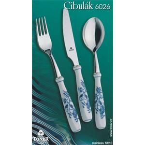 Cibulák - Jídelní příborová souprava pro 6 osob/ 24 ks originální cibulák,cibulový příbor- porcelán 1. jakost