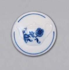 Cibulák Magnetka kulatá konev čajová 4,5 cm originální cibulákový porcelán Dubí, cibulový vzor, 1.jakost