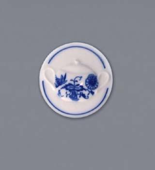 Cibulák Magnetka kulatá cukřenka s uchy 4,5 cm originální cibulákový porcelán Dubí, cibulový vzor 1. jakost