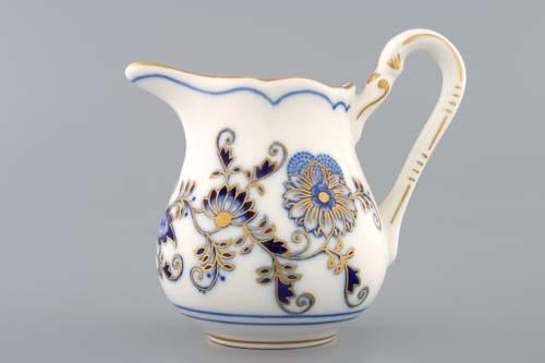 Mlékovka vysoká 0,16 l, originální cibulák zlacený, cibulový porcelán Dubí 1.jakost