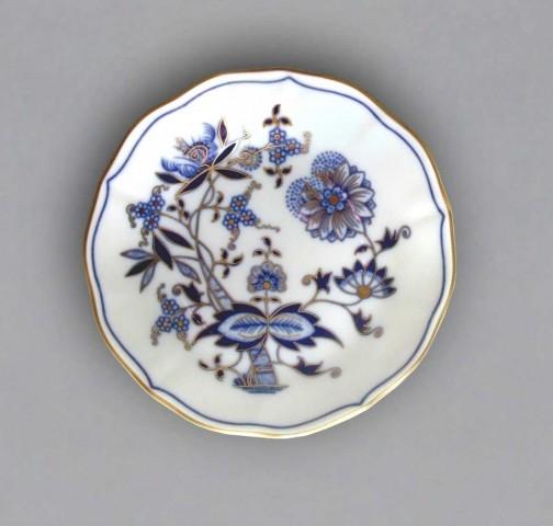 Cibulák podšálek A/1 13 cm, originální cibulák zlacený, cibulákový porcelán Dubí 1. jakost