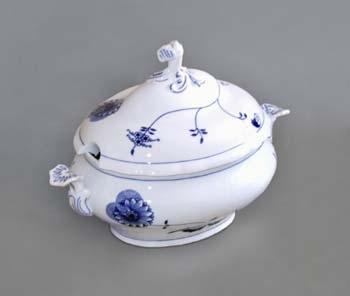 Mísa polévková oválná s víkem s výřezem 3,0 l ECO cibulák, cibulový porcelán Dubí 1.jakost