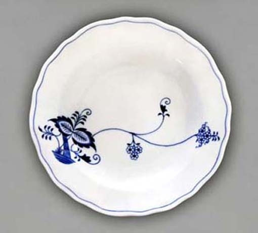 Talíř hluboký praporový 24 cm - ECO cibulák, cibulový porcelán Dubí 1.jakost