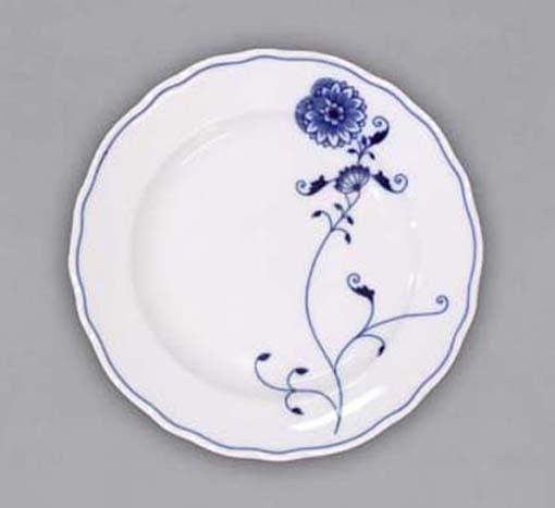Talíř dezertní praporový 19 cm - ECO cibulák, cibulový porcelán Dubí 1. jakost