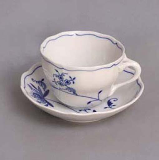 Šalek + podšálek B+B 0,20 l ECO cibulák, cibulový porcelán,originál cibulák Dubí 1.jakost