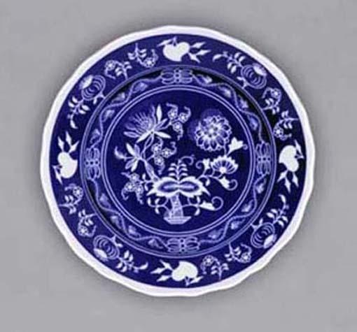 Talíř dezertní praporový 19 cm - NEGA cibulák, cibulový porcelán Dubí 1. jakost