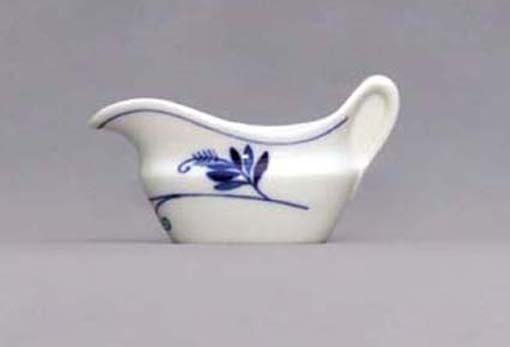 Omáčník oválný bez podstavce s uchem, 0,10 l - ECO cibulák, cibulový porcelán Dubí 1. jakost