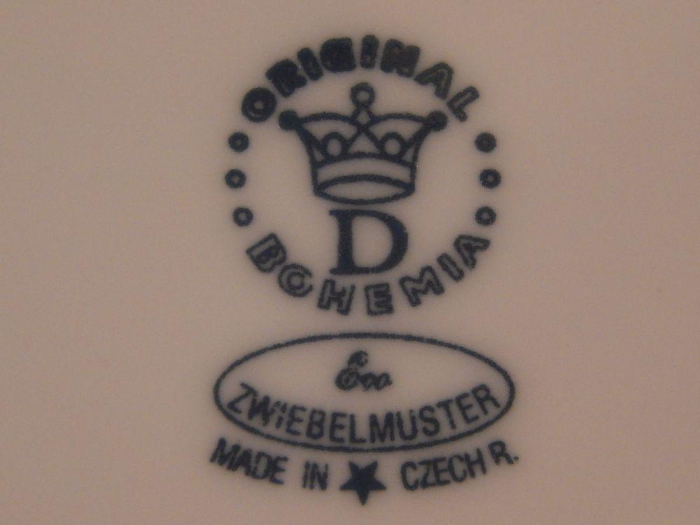 Podšálek bujón, 17,5 cm, ECO cibulák, cibulový porcelán Dubí 1.jakost