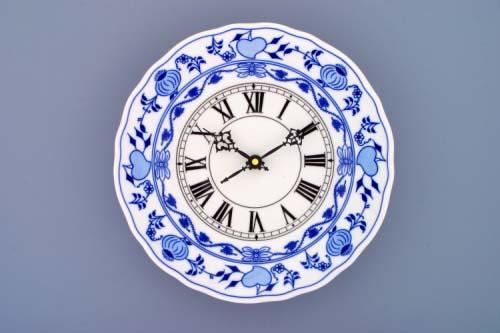 Akce - 50 % Cibulák hodiny 24 cm , originální porcelán Dubí 2. jakost cibulový vzor