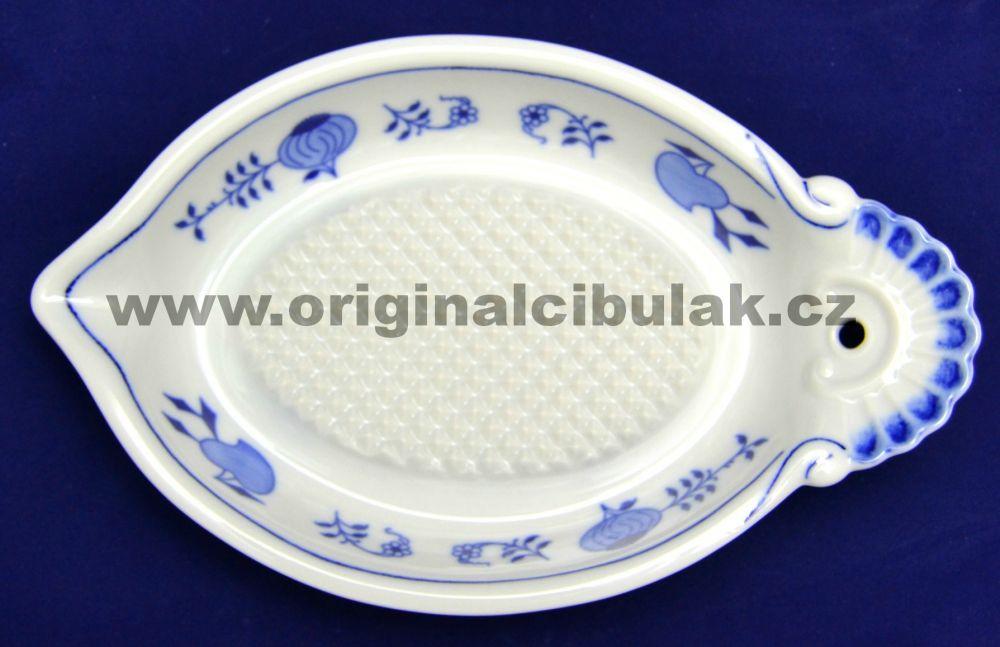 Cibulák struhadlo na jablka, 23 cm, originální cibulákový porcelán Dubí, cibulový vzor, 1.jakost