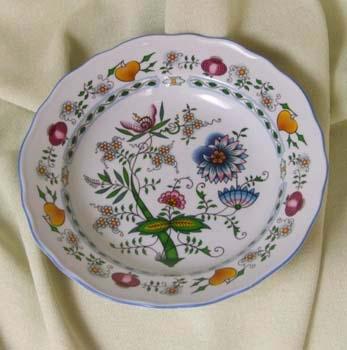 Talíř hluboký praporový 24 cm - NATURE barevný cibulák, cibulový porcelán Dubí 1.jakost