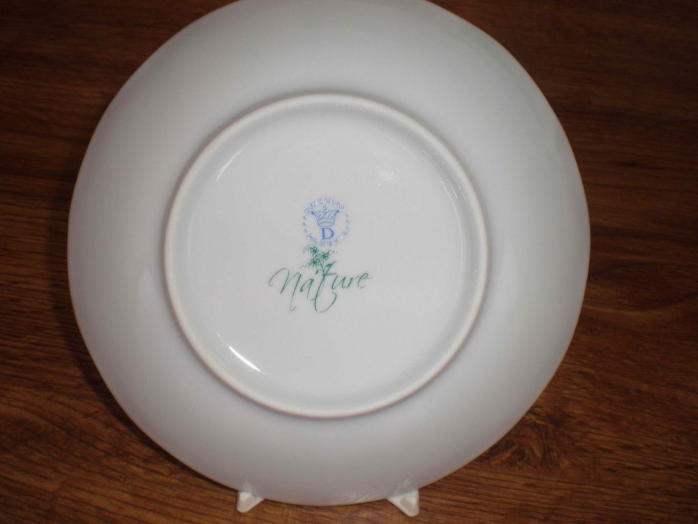 Talíř mělký praporový - NATURE barevný cibulák, cibulový porcelán Dubí 1.jakost