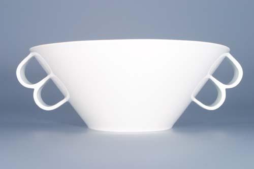 Mísa Bohemia White salátová velká, 0,75 l, design prof. arch. Jiří Pelcl, cibulový porcelán Dubí 1. jakost