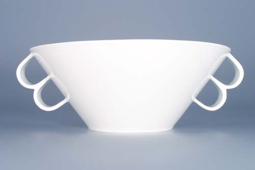 Mísa Bohemia Cobalt salátová velká - design prof. arch. Jiří Pelcl, cibulový porcelán Dubí 1. jakost