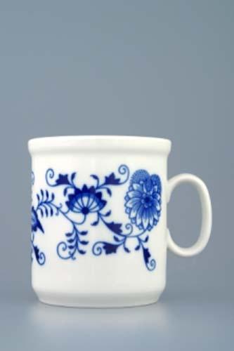 Cibulák hrnek Henry M bez linek 0,27 l, originální cibulákový porcelán Dubí, cibulový vzor, 1.jakost
