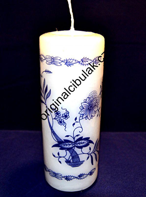 svíčka cibulák 6 ks Akce-50% cibulový vzor silná
