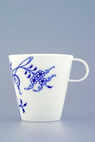 Šálek čaj Bohemia Cobalt - design prof. arch. Jiří Pelcl, cibulový porcelán Dubí 1. jakost