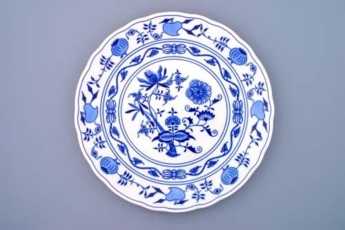 Cibulák talíř klubový 30 cm originální cibulákový porcelán Dubí, cibulový vzor, 2.jakost