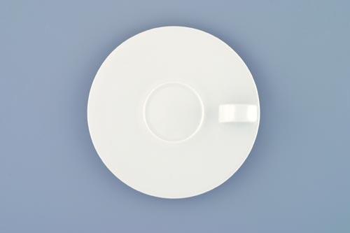 Podšálek espresso Bohemia White, 10 cm, design prof. arch. Jiří Pelcl, cibulový porcelán Dubí 1. jakost
