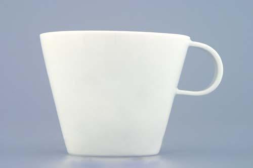 Šálek káva Bohemia White 0,145 l design prof. arch. Jiří Pelcl, cibulový porcelán Dubí 1. jakost