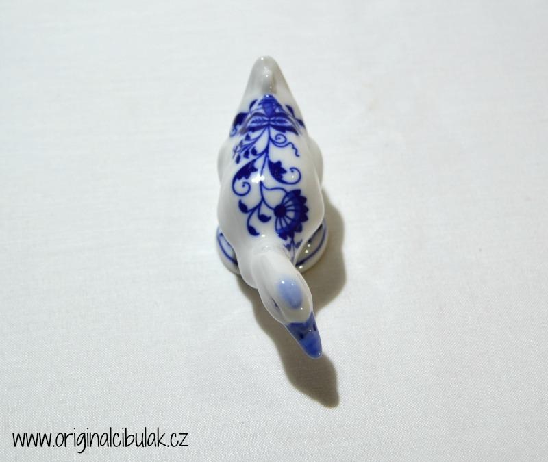 Cibulák Kachna 9,5 cm originální cibulákový porcelán Dubí, cibulový vzor, 1.jakost