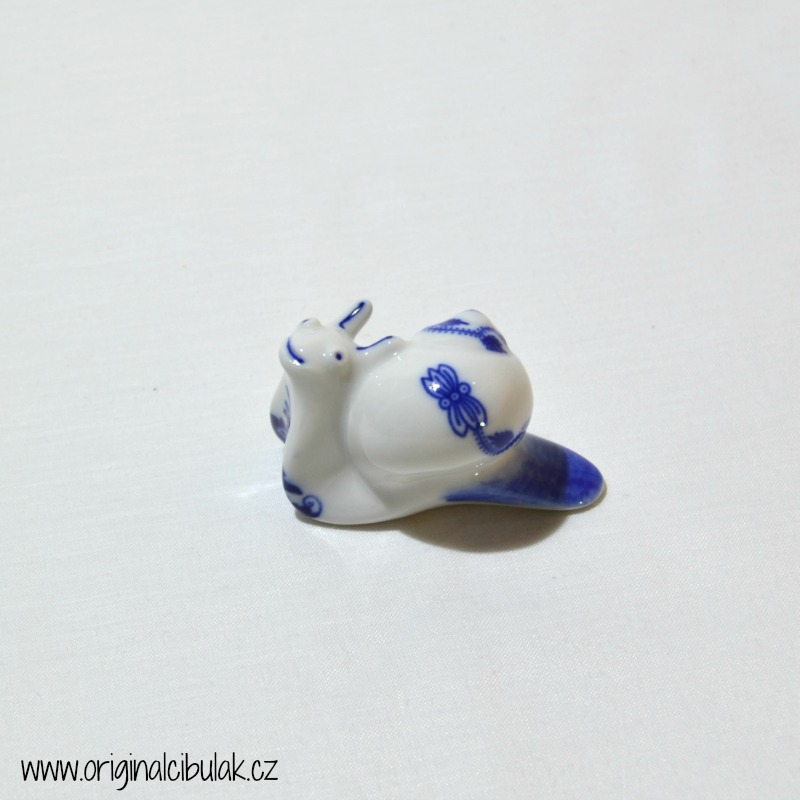Cibulák Šnek 6,5 cm originální cibulákový porcelán Dubí, cibulový vzor, 1.jakost