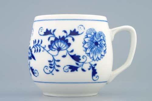 Český Porcelán hrnek Baňák 0,30 l originální cibulákový porcelán Dubí, cibulový vzor 1. jakost