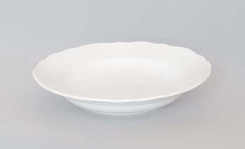 Talíř porcelán bílý hluboký 24 cm Český porcelán Dubí 1.jakost