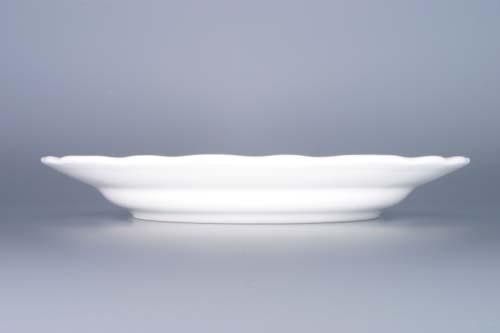 Talíř porcelán bílý mělký 21 cm Český porcelán Dubí 1.jakost