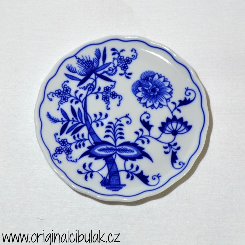 Cibulák podložka pod konvici 14,5 cm originální cibulákový porcelán Dubí, cibulový vzor, 1.jakost