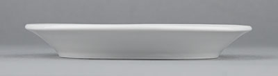Podšálek porcelánový bílý Hotelový pod kávu čaj 14,5cm Český porcelán Bohemia 1.jakost