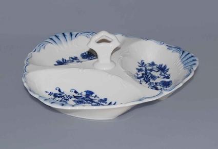 Cibulák kabaret Aida 26 cm originální cibulákový porcelán Dubí, cibulový vzor 1. jakost